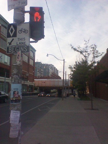 Looking north, Dupont and Christie