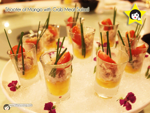 Shooter of Mango with Crab Meat Salad