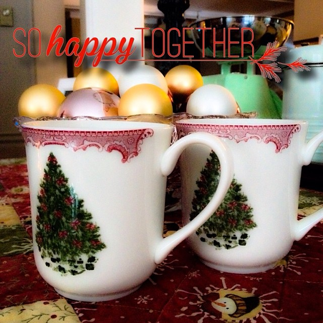 Dec 14 - drink {loving my Saturday morning coffee with hubby made even more special with Christmas mugs} #fmsphotoaday #drink #coffee #mugs #christmas #rhonnadesigns #morning