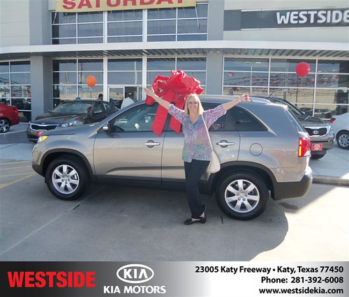 Happy Anniversary to Donna Kroll on your 2013 #Kia #Sorento from Clayton Damon and everyone at Westside Kia! #Anniversary by Westside KIA