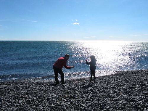 Helgi and Karítas, skipping peddles