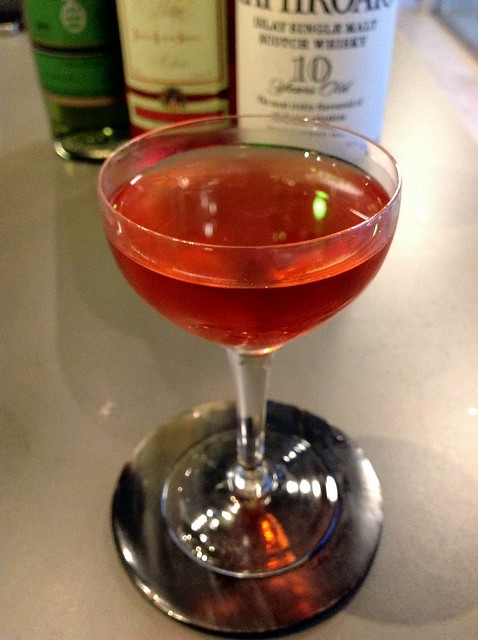 The End of the Road (Chris McMillian): Laphroaig 10 yr, Campari, green chartreuse