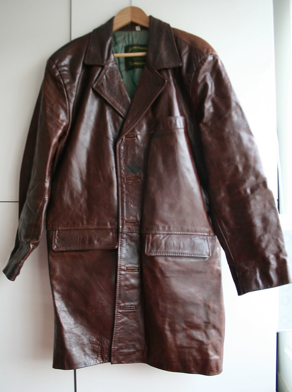 Big leather coat
