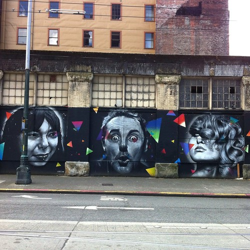 Famous Faces of Seattle mural