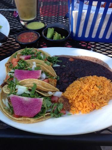 vegan taco plate