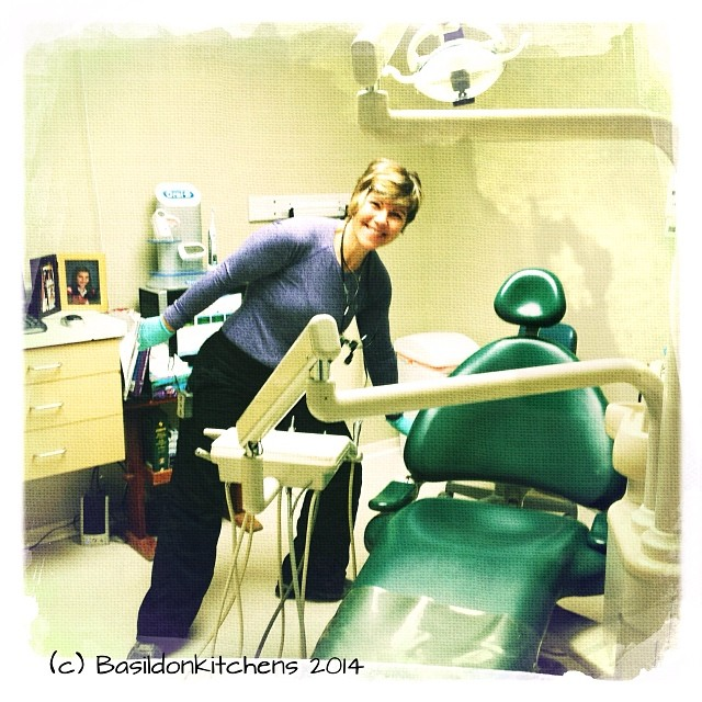 "13/1/2014 - makes me smile {This is Sandra. She is my dental hygienist. She makes me smile as well as ""MAKES"" my smile  #fmsphotoaday #smile #hygienist #dentist"