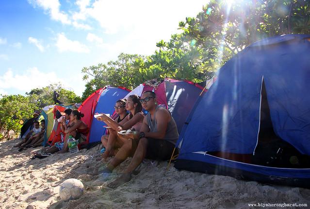 Camping in Calaguas Island Camarines Norte
