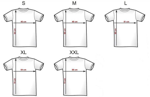 Nendonesia T-Shirt size chart