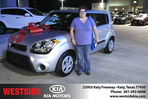 Thank you to Rebekah Martin  on your new 2013 #Kia #Soul from Gil Guzman and everyone at Westside Kia! #NewCarSmell by Westside KIA