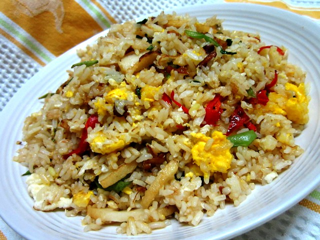 Roast pork sauce fried rice