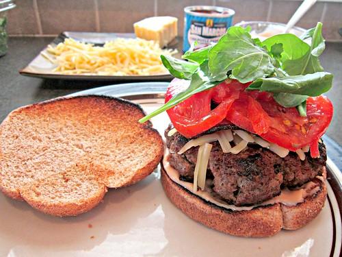 Smoked Gouda & Bacon Burger with Chipotle Mayo
