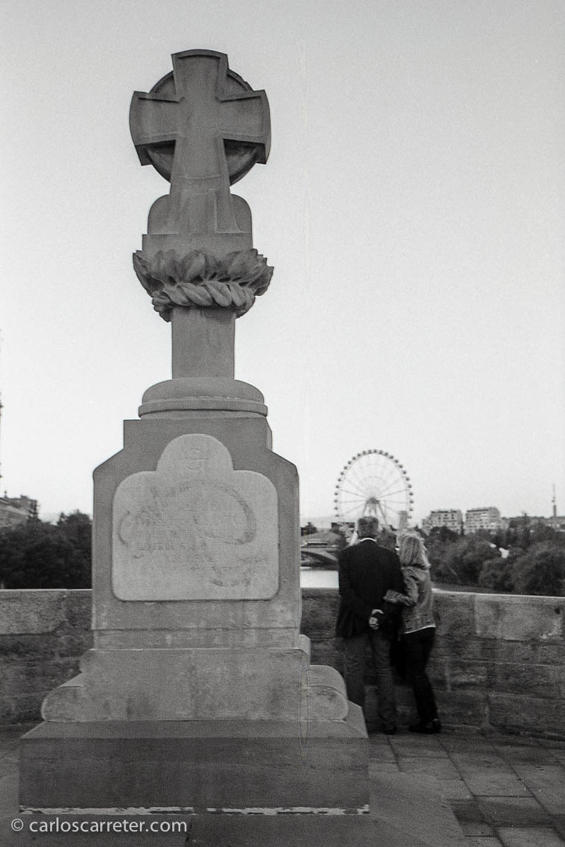 La noria desde el puente de Piedra