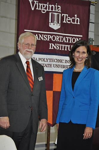 Chairman Hersman with VTTI Director Tom Dingus