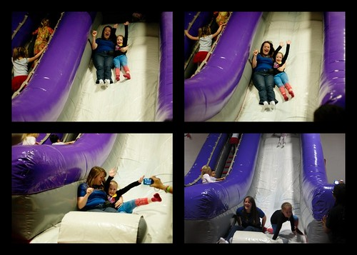 Lily and NoNo on Slide