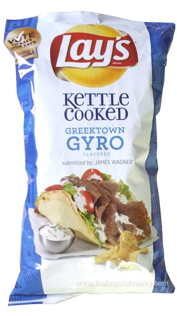 Lay's Kettle Cooked Greektown Gyro Potato Chips