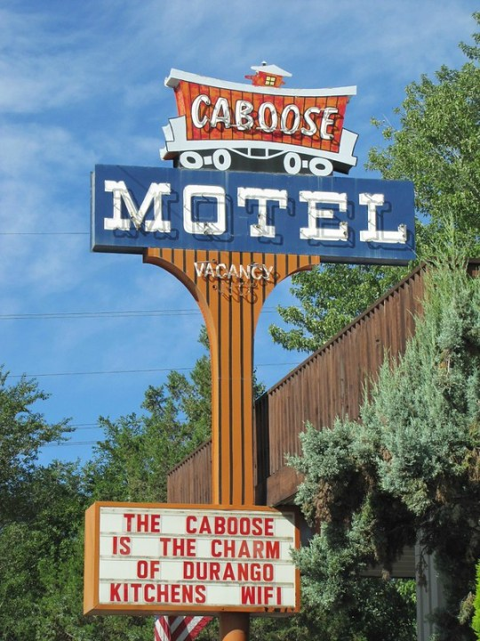 Caboose Motel - 3363 Main Avenue, Durango, Colorado U.S.A. - July 26, 2012
