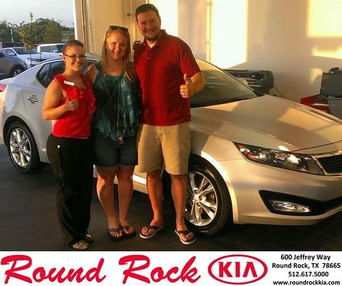 Thank you to Ben Gieselman on the 2013 Kia Optima from Ruth Largaespada and everyone at Round Rock Kia! by RoundRockKia