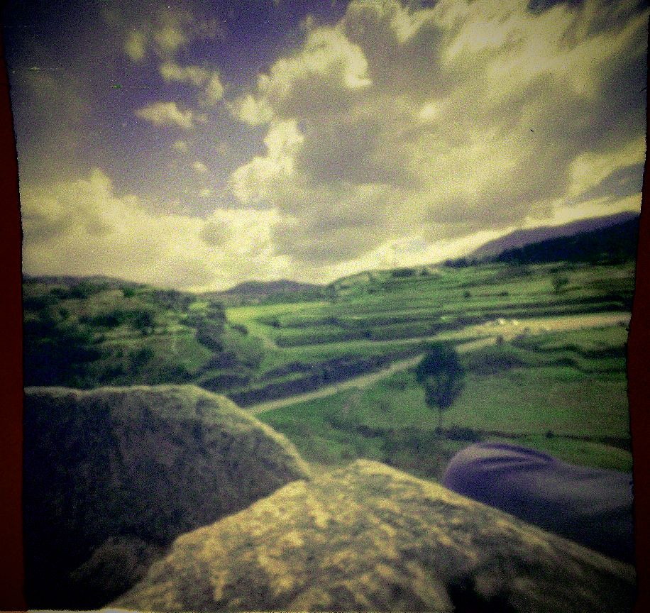 Cusco ruins through a pinhole