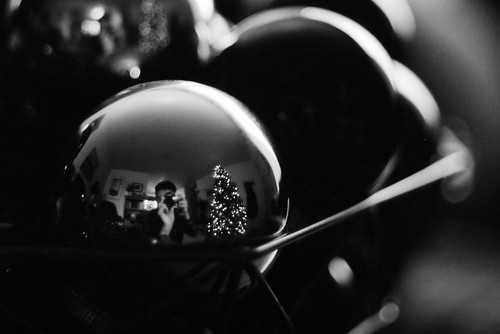 Reflected in the bulbs