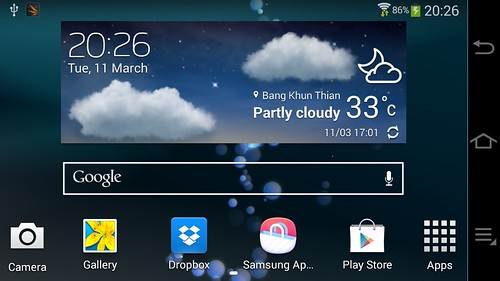 Home screen ของ Samsung Galaxy Camera 2