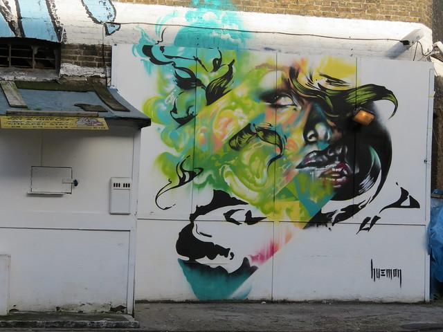 Street art by Hueman