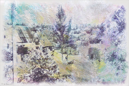 Image of Belarusian Countryside using Blend If sliders on texture