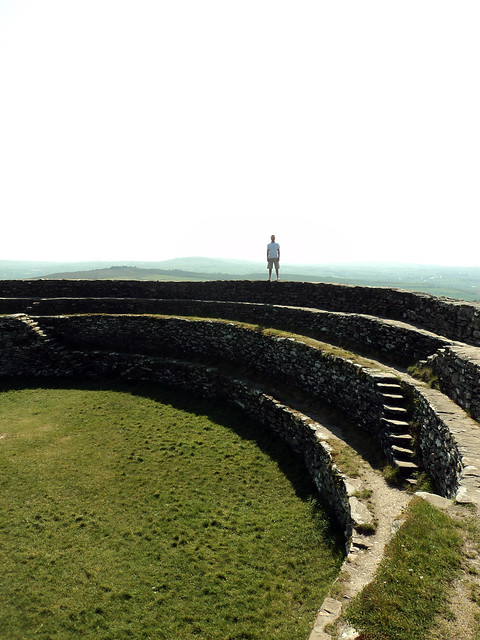 Ring fort (Grianan of Aileach) in Ireland.