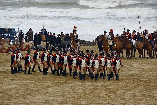 Franse soldaten te Scheveningen. Foto door Roel Wijnants, op Flickr.