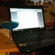 #writting an #essay for this #scholarship while #enjoying some #boonesfarm #blue #Hawaii #yummy