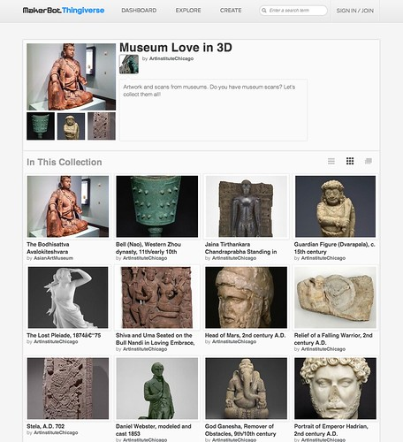 Thingiverse: Museum Love in 3D