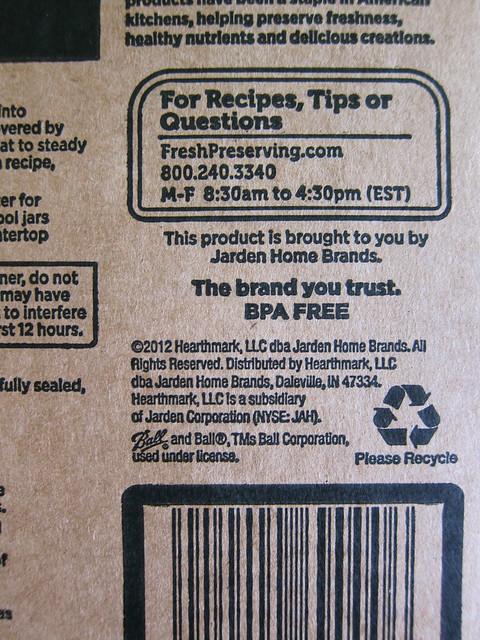 Identifying Ball's BPA-Free Lids