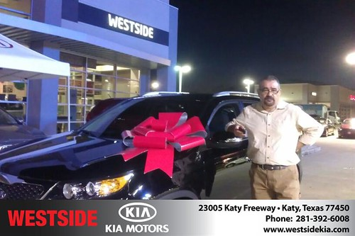 Westside KIA Houston Texas Customer Reviews and Testimonials-Gustavo Suarez by Westside KIA