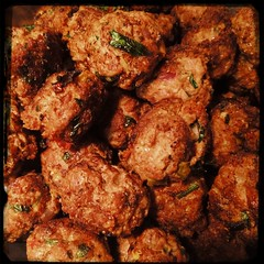 Whew! #Meatballs #Polpetti finished! Oh, my 'balls are mouth watering delicious! ;-)