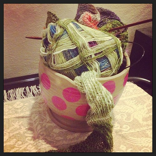 Work in progress #knit #knitting #yarn #noro #norosekku #sekku #lavoroamaglia #shawl #heidikirrmaier #windward #handmade #handamewithlove #lanistequasianonime #kalfromitaly #ravelry