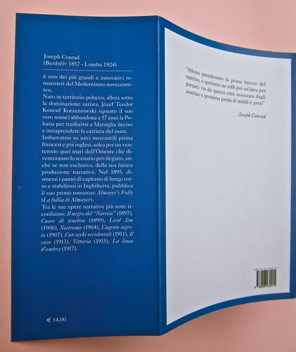 Joseph Conrad, Suspence. il canneto editore 2013. progetto grafico di Paroledavendere, Art Director: Camilla Salvago Raggi. Risvolto della quarta di copertina (part.), 1