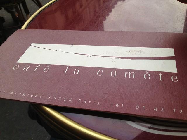 Menu - La Comete