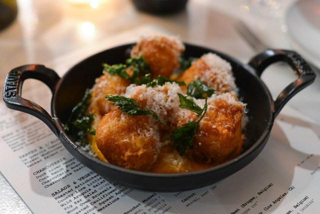 Parmesan Beignets sweet potato, vadouvan, erik's maple syrup