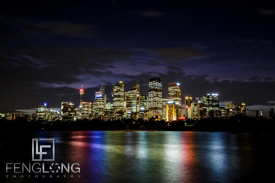Downtown Sydney Night Skyline
