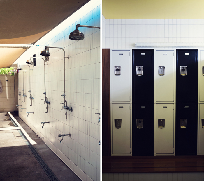 Showers and Lockers at Ace Hotel & Swim Club in Palm Springs