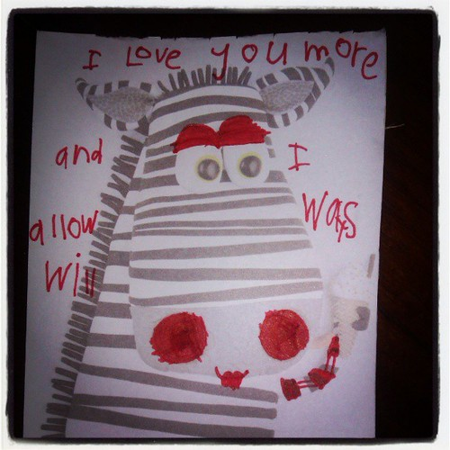 """I love you more and I alloways will"". I wish she would stay six forever."