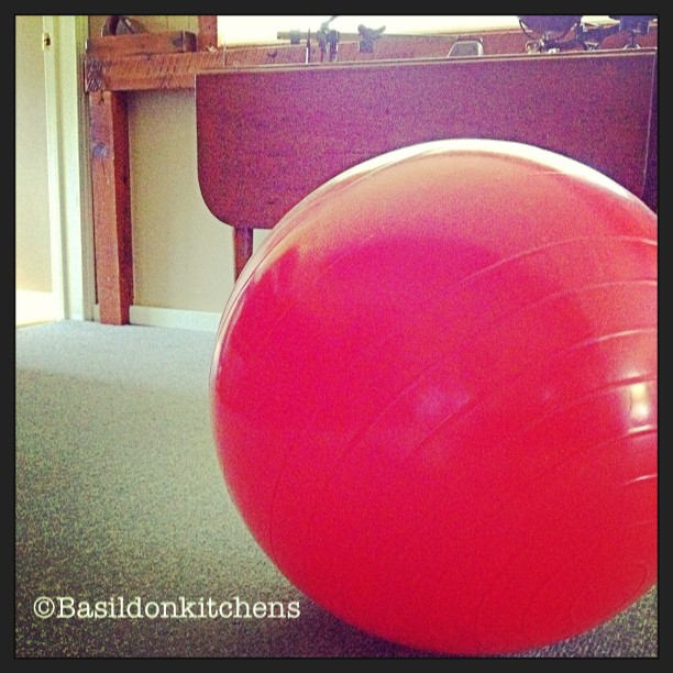 Aug 17 - exercise {my 'Thera-band' ball that I still use regularly since my car accident} slowly getting stronger #fmsphotoaday #exercise #theraball