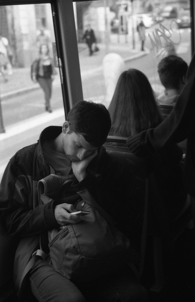 Kiev 4 - New Scan - Tired Young Man in the Tram 2