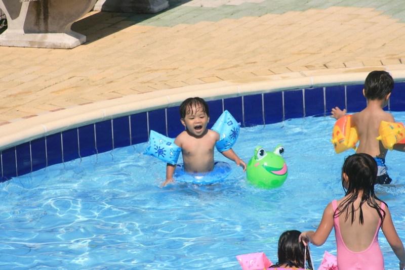 kids loving the pool
