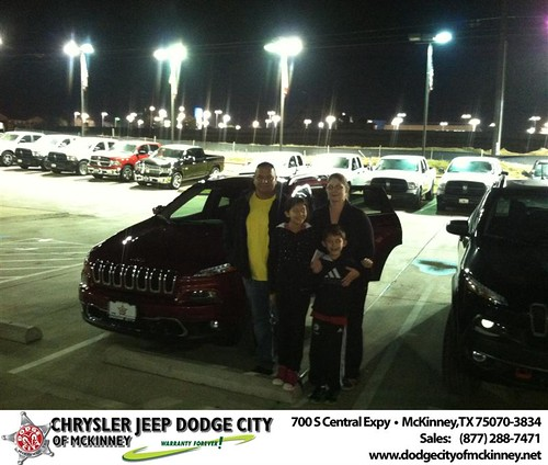 Thank you to Robert Renteria on your new 2014 #Jeep #Cherokee from George Rutledge and everyone at Dodge City of McKinney! #NewCarSmell by Dodge City McKinney Texas