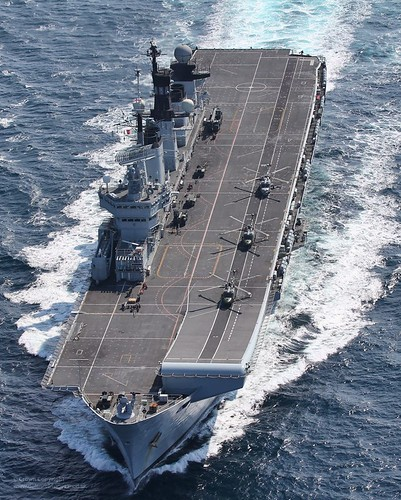 HMS Illustrious at Speed