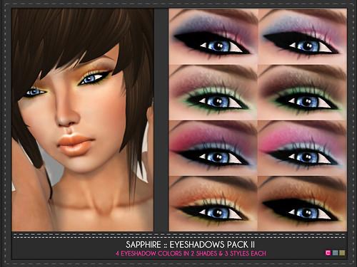 Sapphire Eye Shadows Pack 2