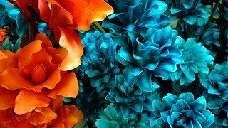 Nokia Lumia 1020 - Orange & Turquoise Fake Flowers @ The Range