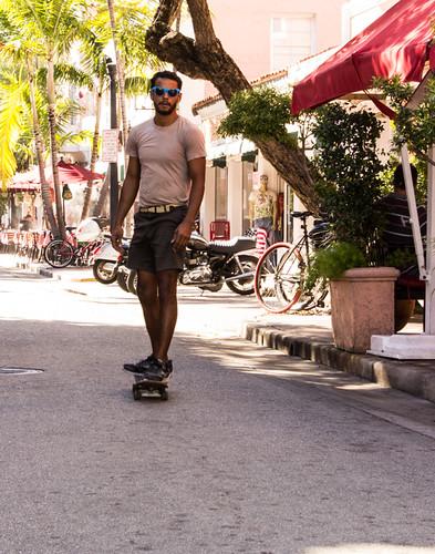 Miami Skateboarder by Christopher OKeefe