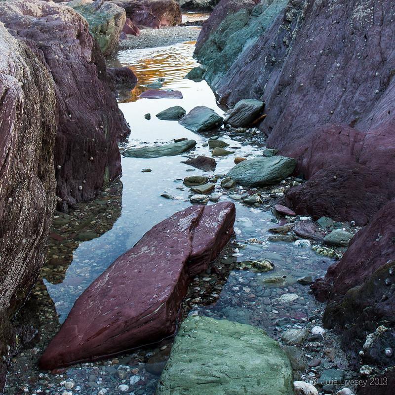Rocky channel, Talland Bay, Cornwall