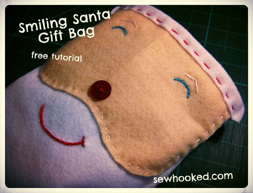 Smiling Santa Gift Bag Tutorial